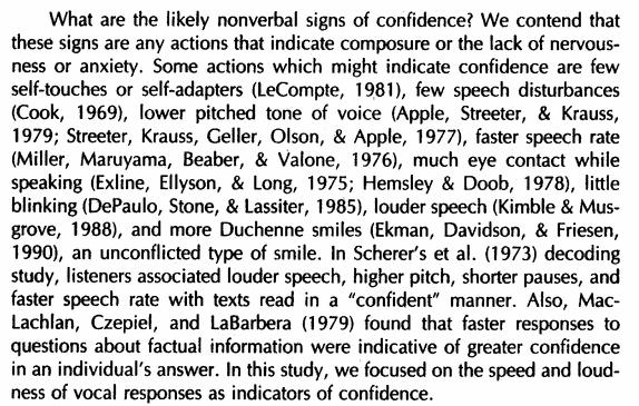 Vocal Confidence